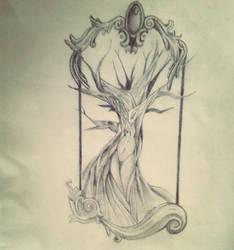 Dead tree by Fallen-Swallow