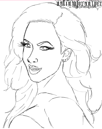 Aj lee from wwe free coloring pages for Diva coloring pages