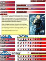 Anya Storm - Super City Character Sheet