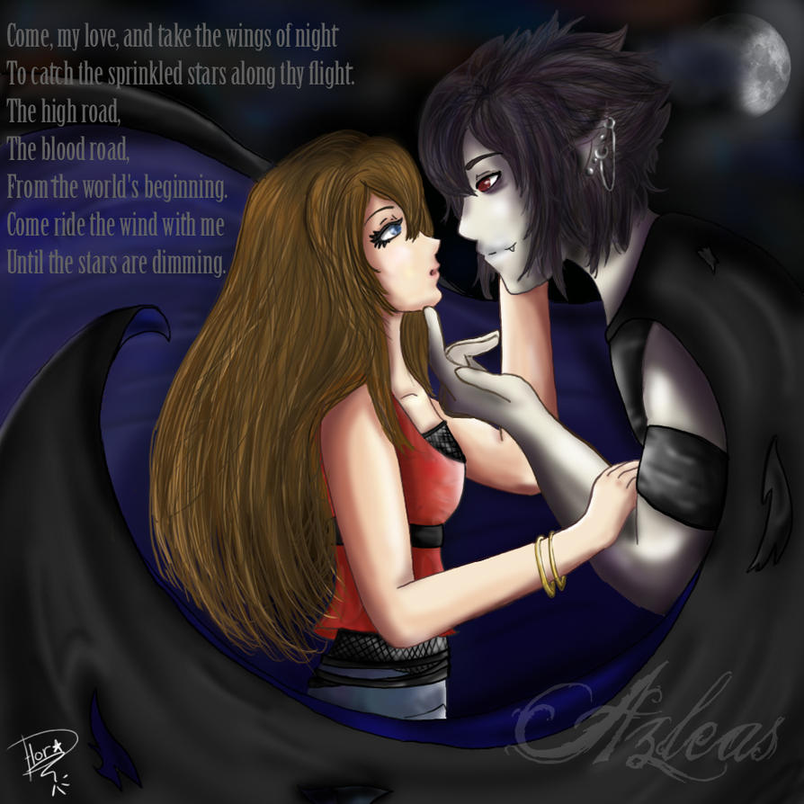 The Vampire and his love. by Azleas