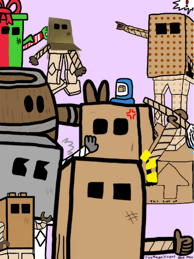 8 Great Box Men by TheMagnificentBoxMan