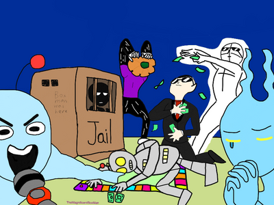 I drew ma squad in monopoly night! by TheMagnificentBoxMan
