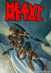 Gold Robot Lady Proposed Heavy Metal cover
