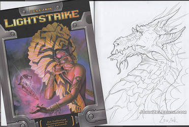 Dragon Sketched Lightstrike by Zeleznik