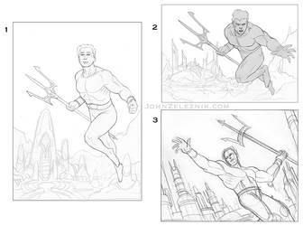 Aquaman Sketches by Zeleznik