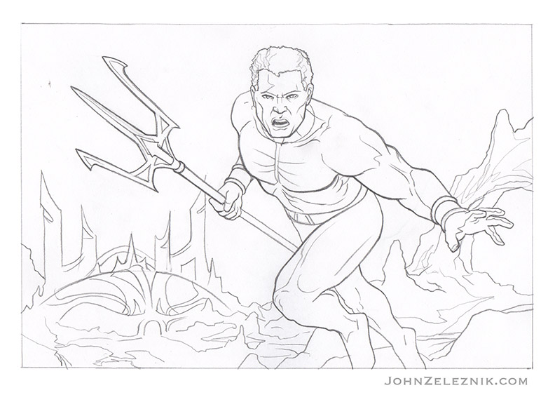 Aquaman Final Line by Zeleznik