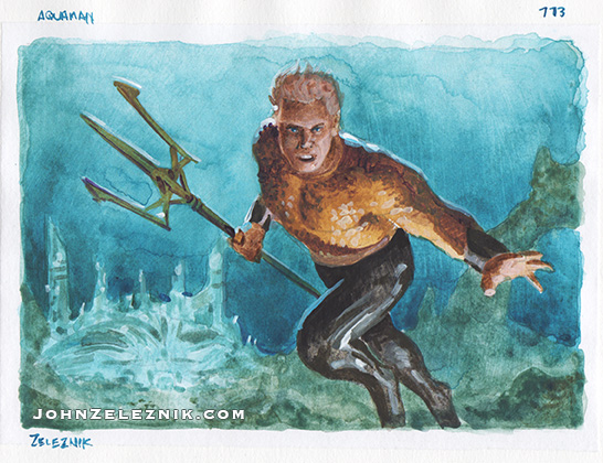 Aquaman Color Sketch by Zeleznik