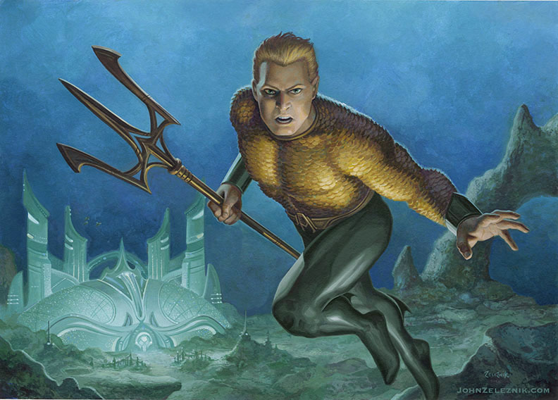 Aquaman Private Commission by Zeleznik