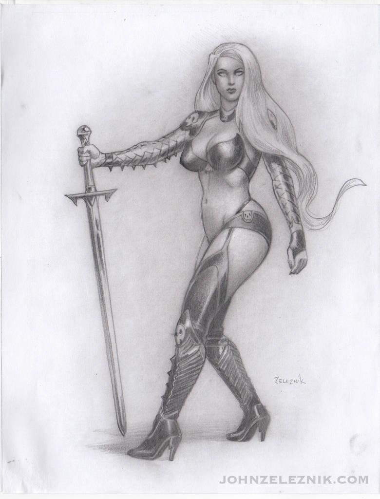 Sexy Lady Death on Ebay by Zeleznik