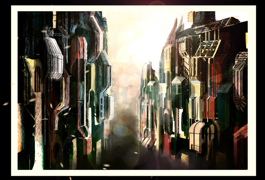 Futuristic city speed paint by tenchi24