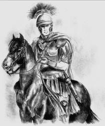 Roman Soldier by clouded-ambition