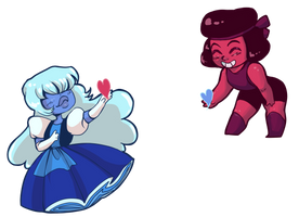Ruby Sapphire by MordredsLullaby