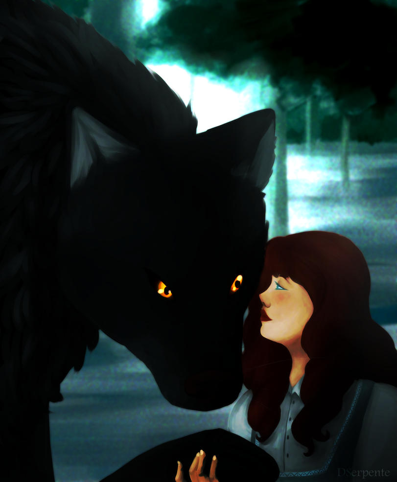 The wolf and the maiden by DSerpente