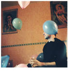 Arnaud with balloons