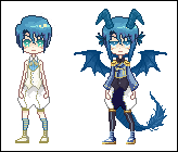 [CLOSED] Water Dragon Pixel Adoptable by Meicker