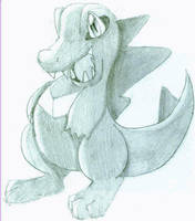 Totodile sketch by ChuLover14