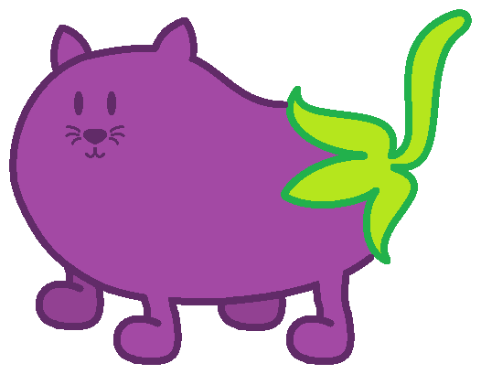 Eggplant Kitty by perpetual-ice