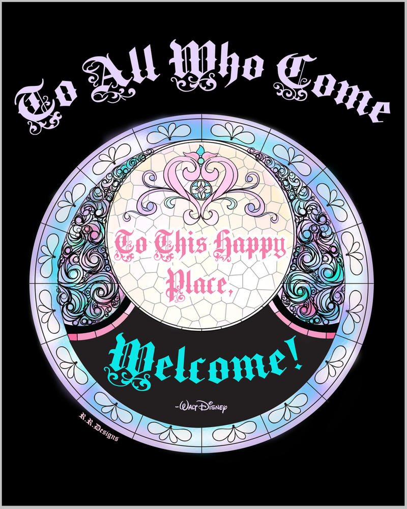 Disney Welcome Quote by BokehSmile