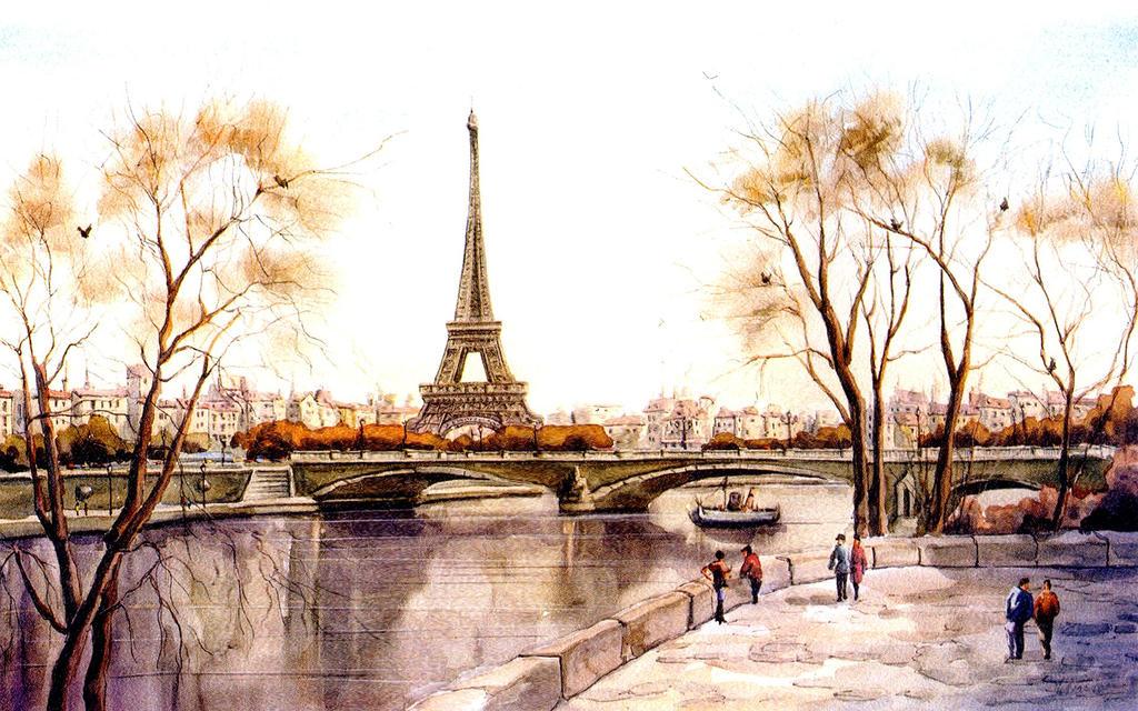 Attractive Paris WaterColour by Artist2b23 on DeviantArt JA74