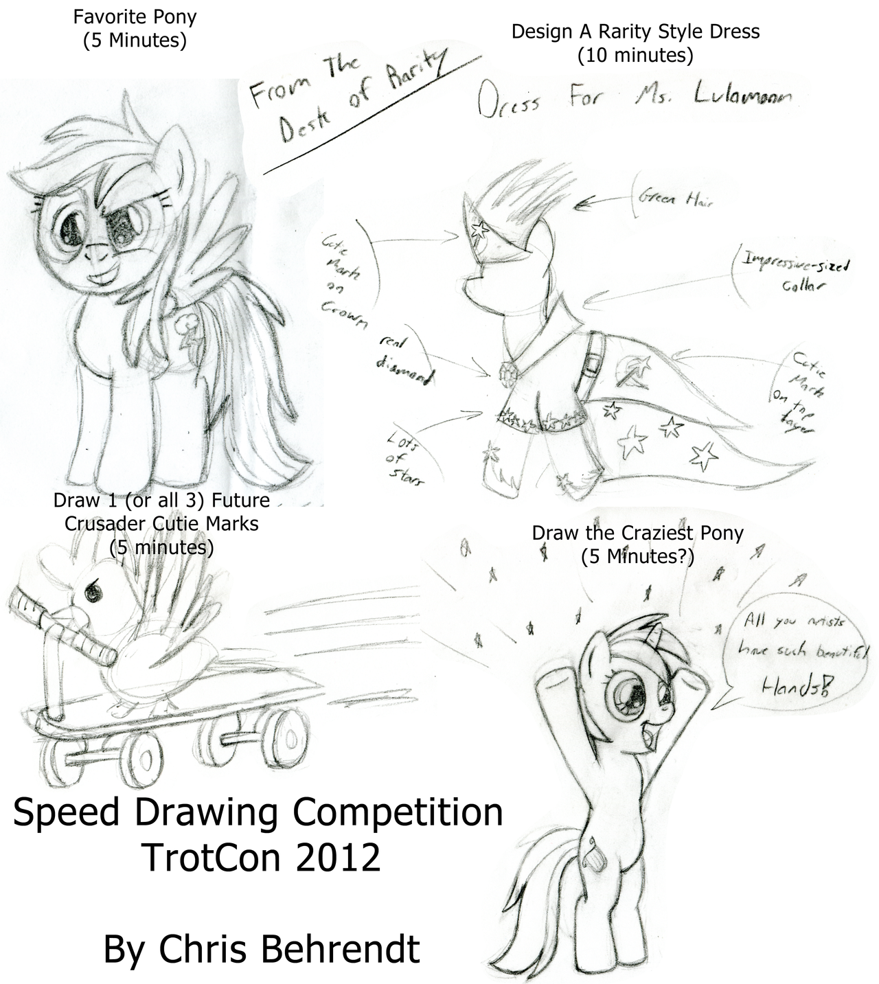 Speed Drawing Competition (TrotCon 2012) by wildtiel