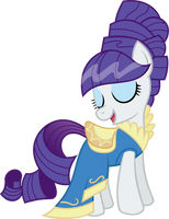 Rarity's Curtain Dress by wildtiel
