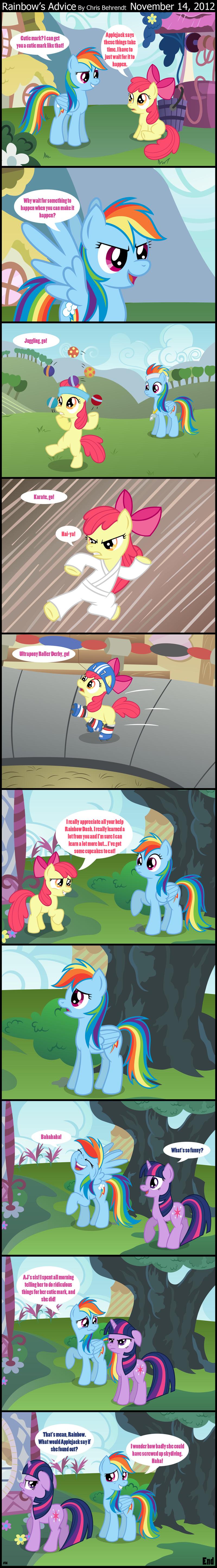 Rainbow's Advice by wildtiel