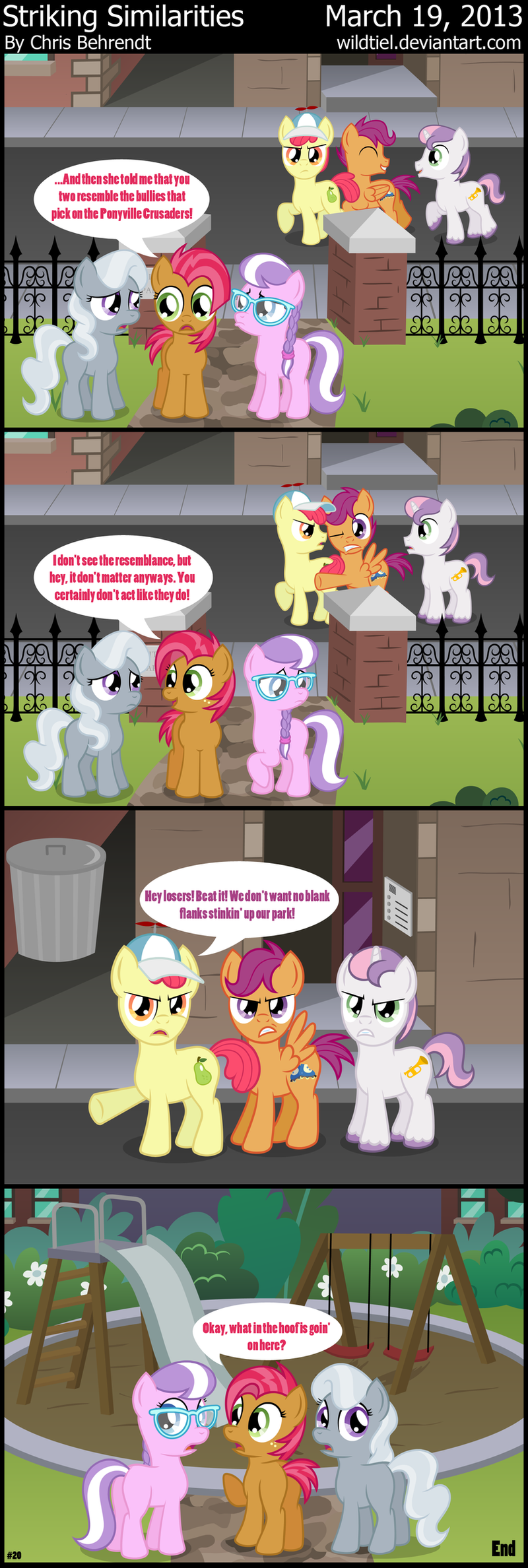 Manehattanite Friends 2 - Striking Similarities by wildtiel