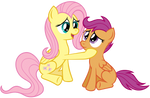 Fluttershy and Scoots