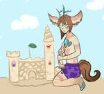 Marquis Builds a Sandcastle by smoldering-skies