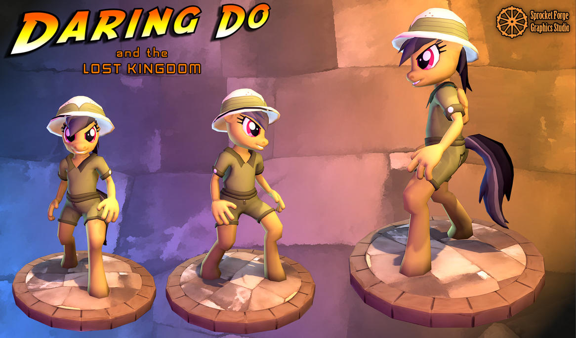 Daring Do and the Lost Kingdom - Game Model by tidalkraken