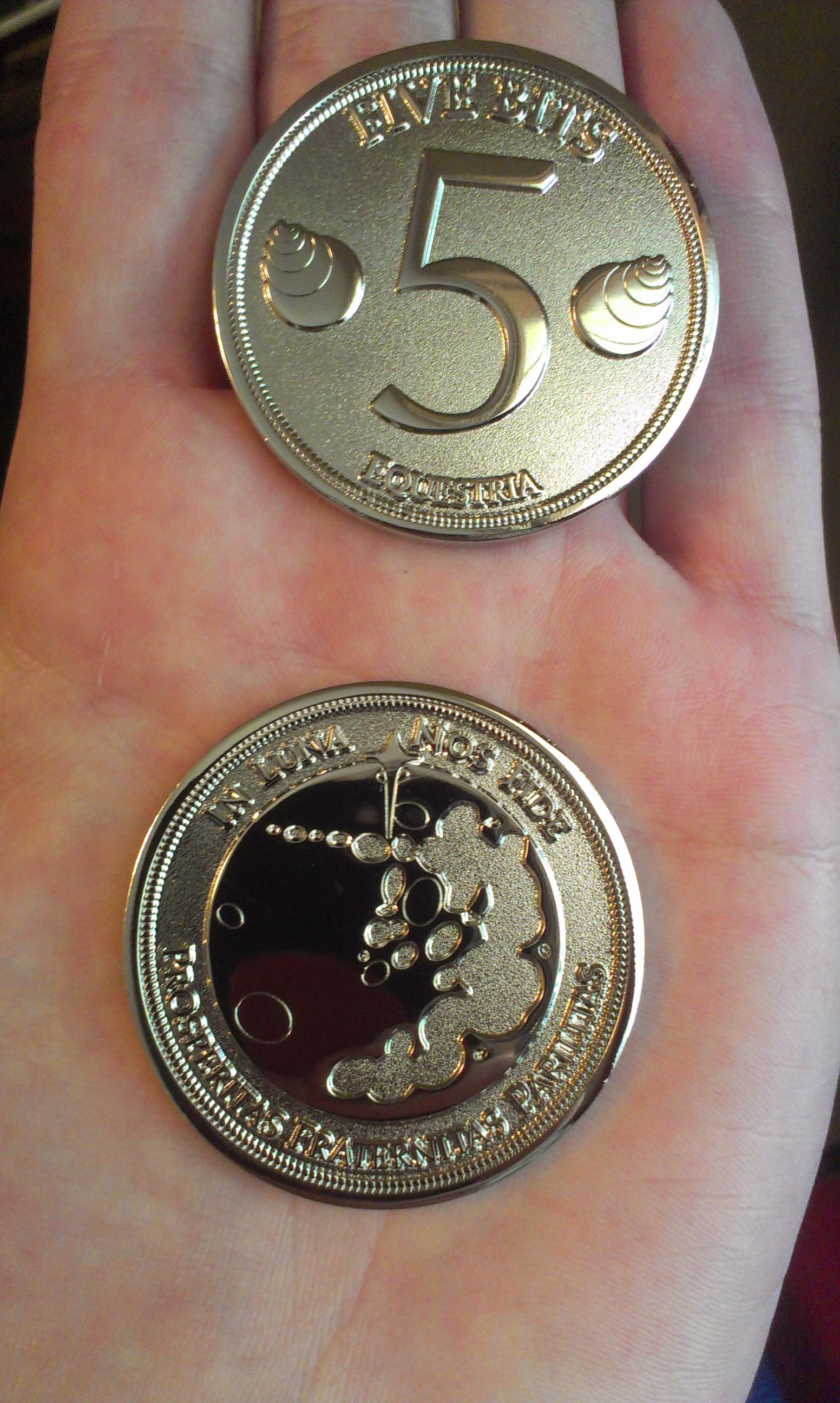 Five bit coin  - Final production design by tidalkraken