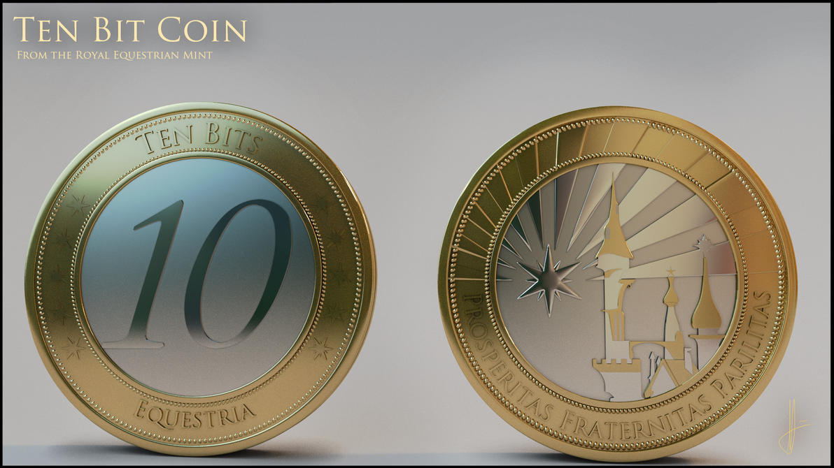Ten Bit coin - Royal Equestrian Mint by tidalkraken