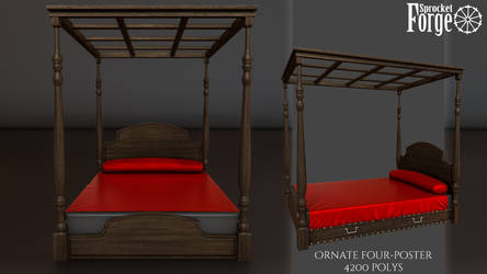 Ornate Four Poster Bed by tidalkraken