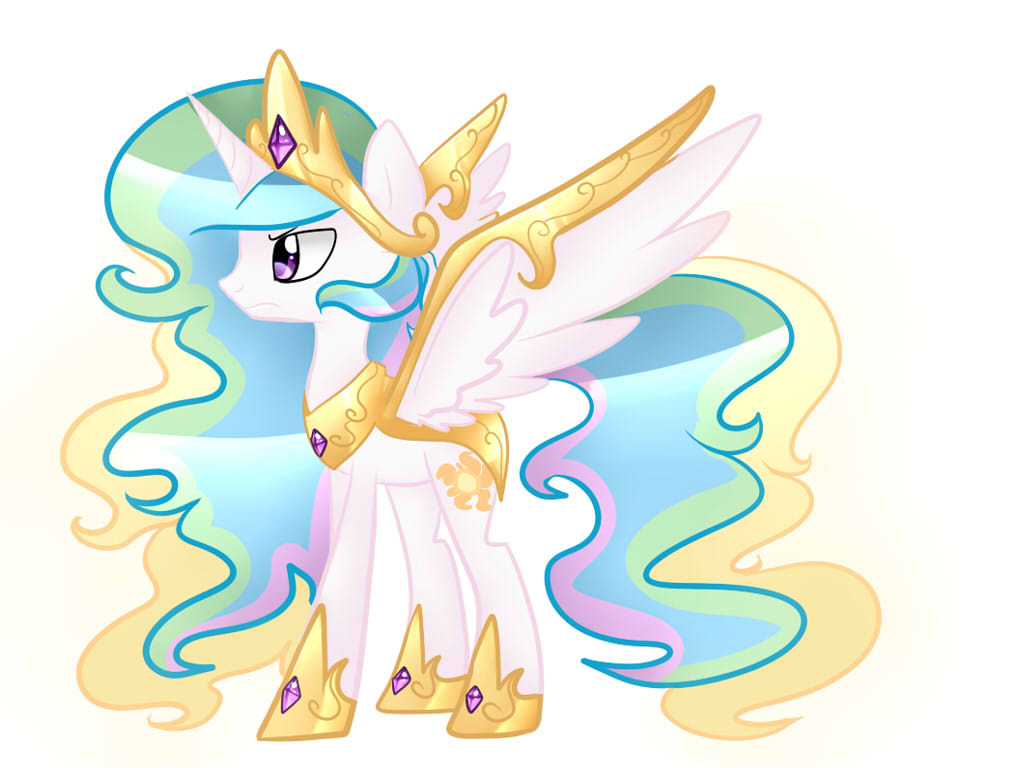 Princess Celestia (Epic Battle Form) by Le-Poofe on DeviantArt