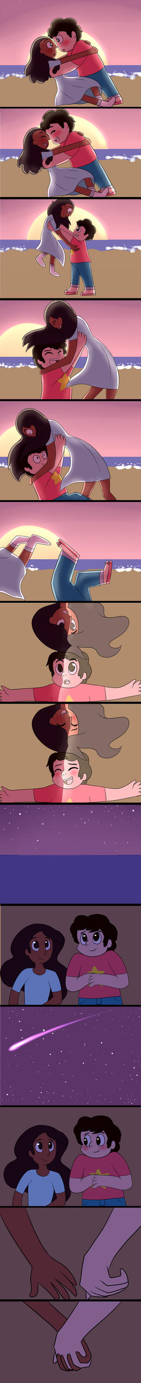 Steven x Connie fan comic!! by Le-Poofe