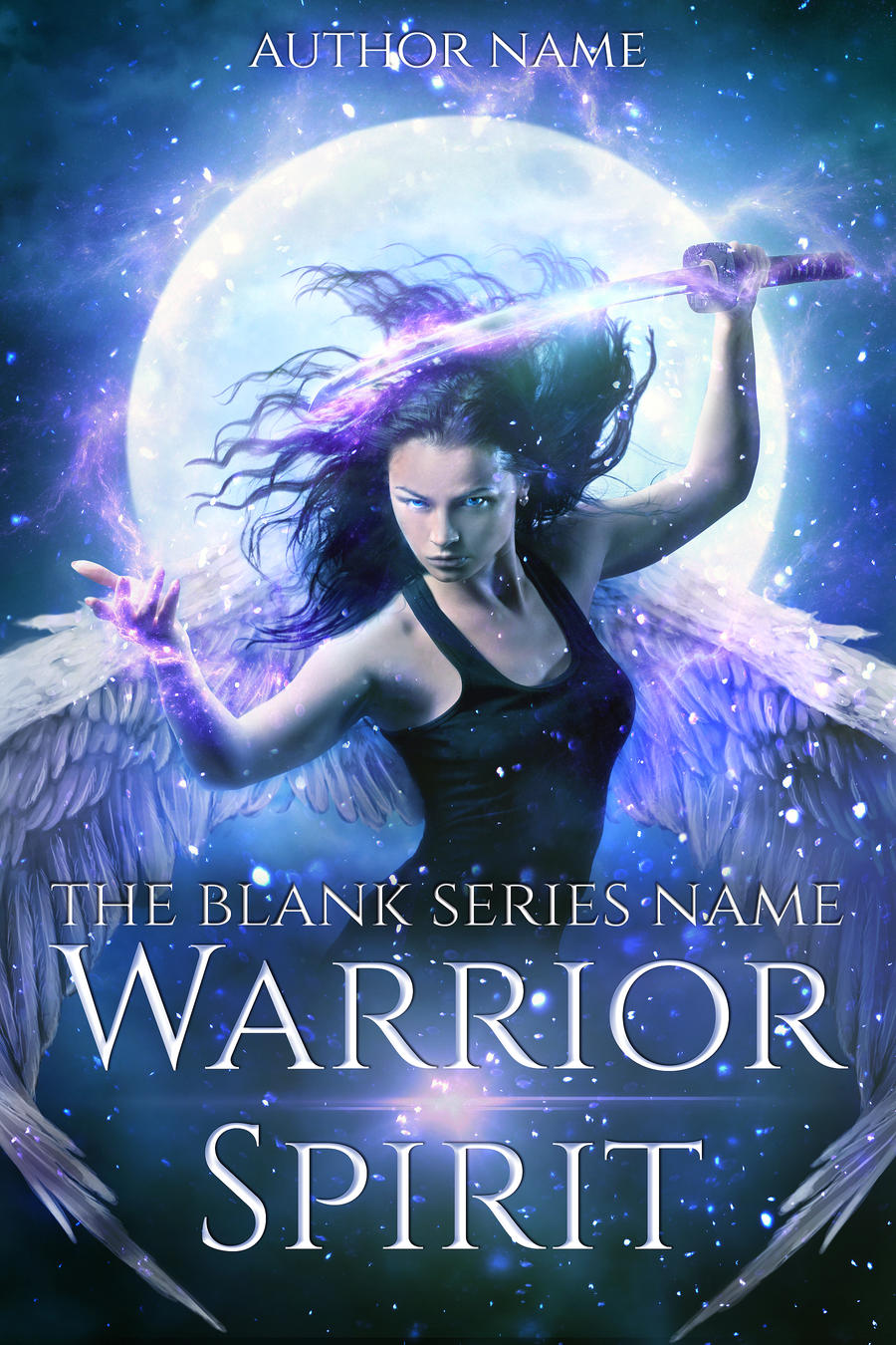 WARRIOR SPIRIT premade book cover