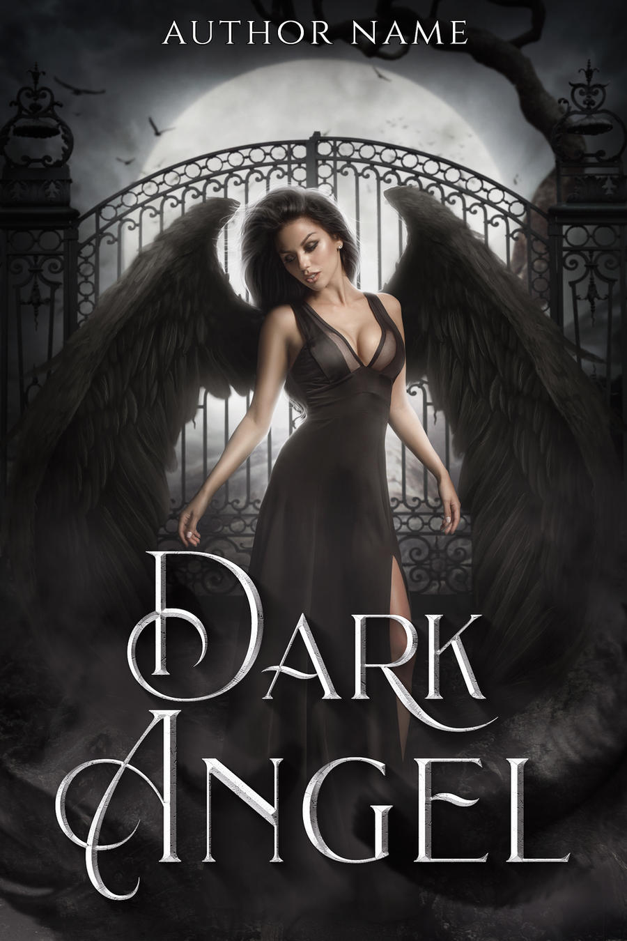 DARK ANGEL premade book cover