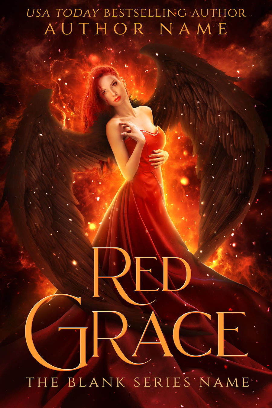 RED GRACE premade book cover