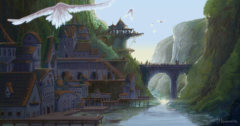 Pier City Concept Art