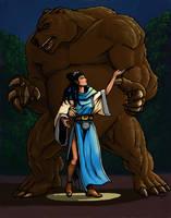 Werebear Priestess by HarshRealities