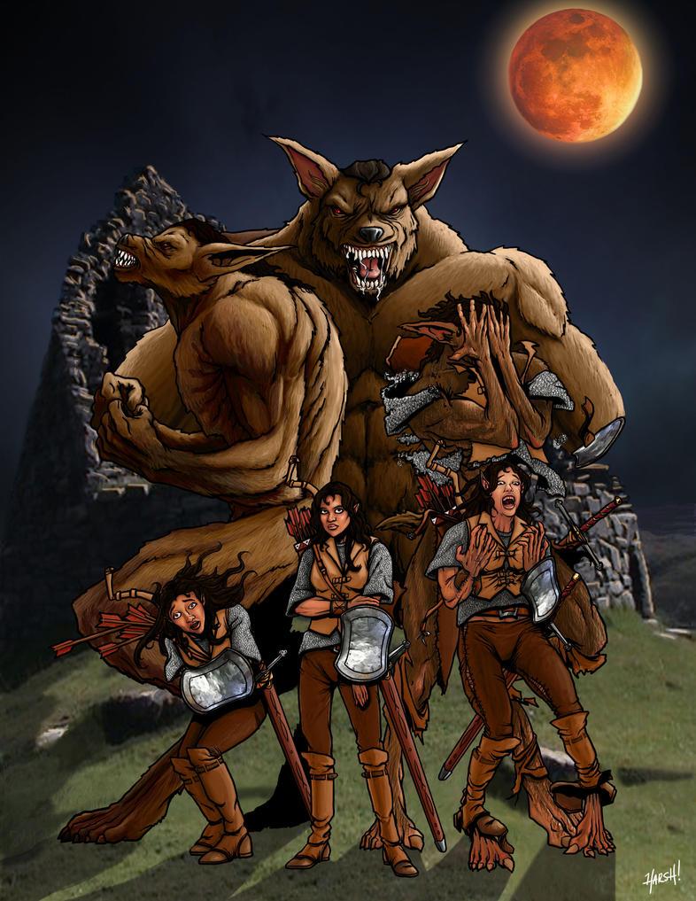 female werewolf huge muscle