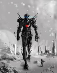 Battle Mech Light Assassin concept design by benedickbana