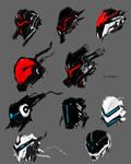 Mech face full armor concept