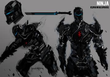 Ninja KUMAWAKAMARU concept design by benedickbana