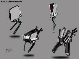 Aerial Mechdroids Concept design by benedickbana