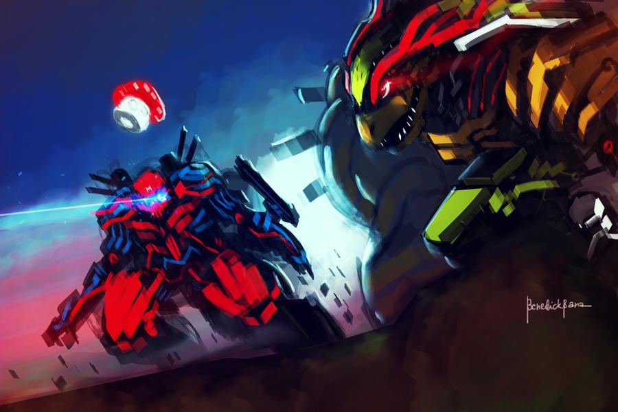 Cyber Mario VS Koopa X evolution Fan Art by benedickbana