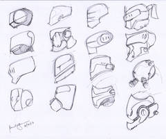 sketches Mechanical heads 001 by benedickbana