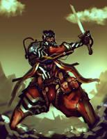 Steampunk Warrior coloredAberration by benedickbana