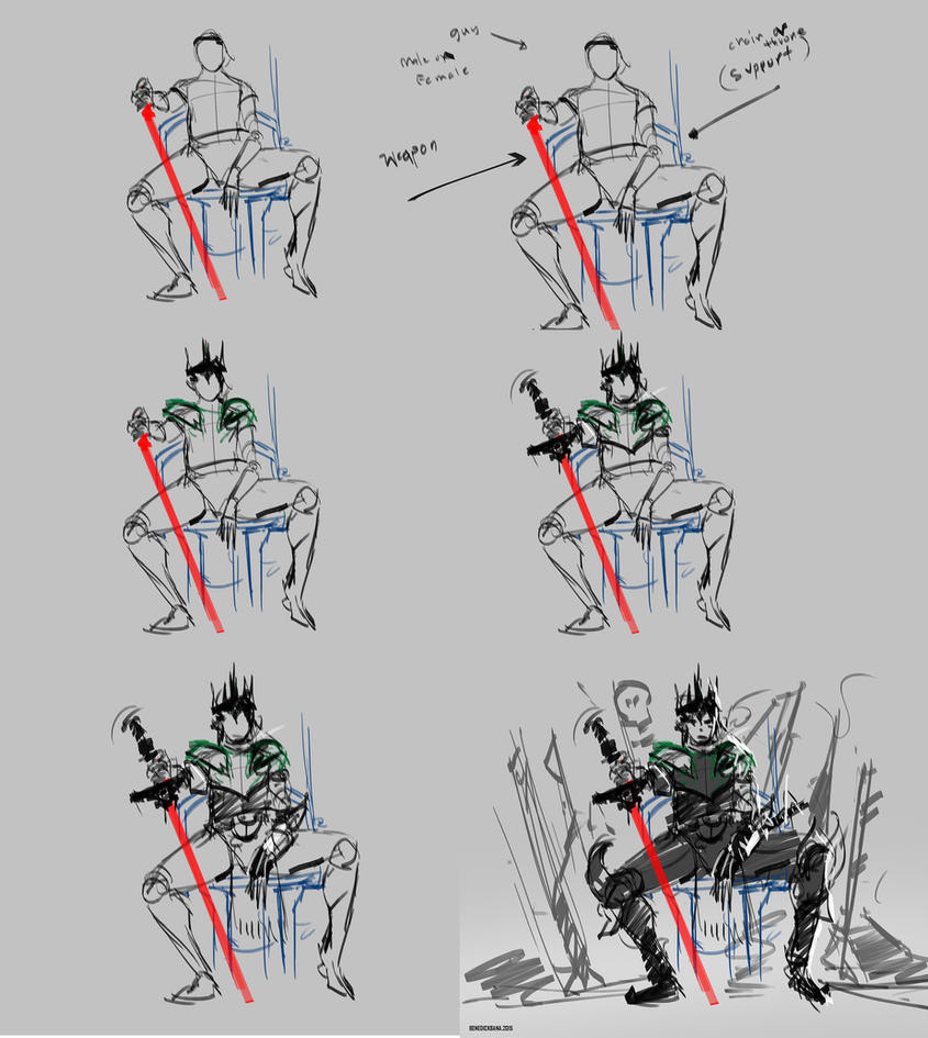 Action Pose Tutoria WIPl_Quick Sketch102 by benedickbana
