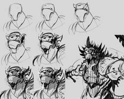 Creature Design tutorial WIP 101_Sketch by benedickbana